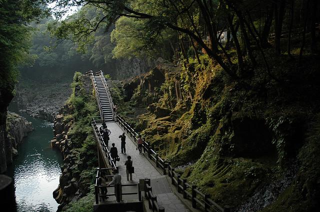 Cascada Manai en la garganta Takachiho